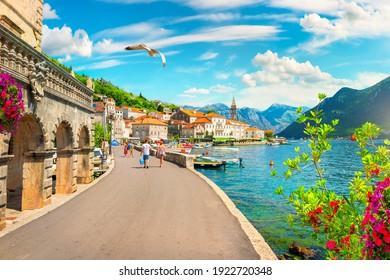 Historic city of Perast at Bay of Kotor in summer, Montenegro - Shutterstock ID 1922720348