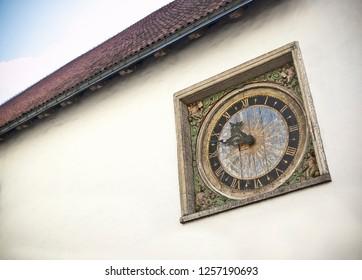Historic Clock in Tallinn Estonia