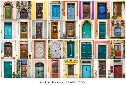 historic and colorful bamberg doors