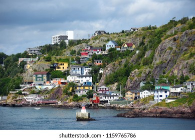 The historic and colorful Battery neighborhood in St. John's Newfoundland and Labrador