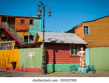 Historic colorful neighborhood La Boca, Buenos Aires Argentine