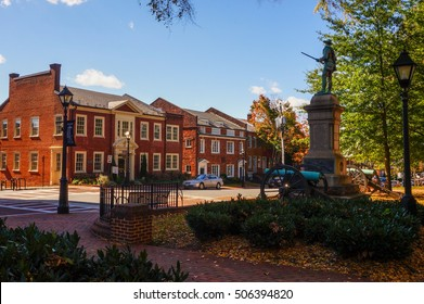 Historic Court Square in Charlottesville, Virginia