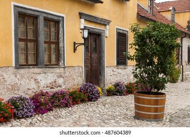 the historic courtyard of Heidecksburg Rudolstadt, Thuringia