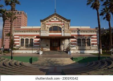 Historic customs office in the city of Arica in northern Chile.
