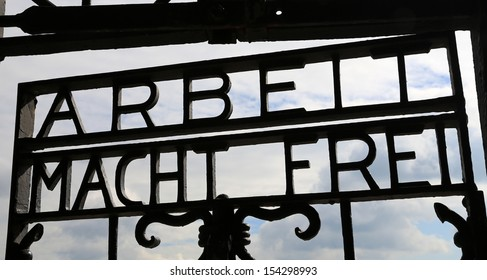 Historic Dachau Concentration Camp in Germany