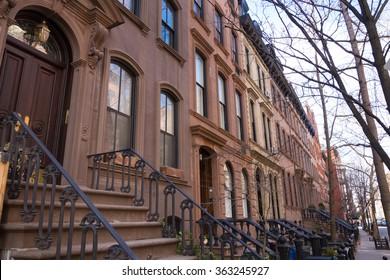 Historic district of West Village, New York.
