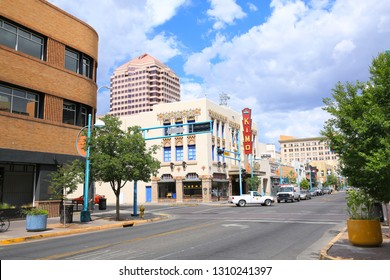 Historic downtown in Albuquerque, Route 66 district, New Mexico, USA, 07-16-2018