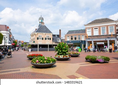 Historic downtown in Almelo, Twente, Netherlands, 08-16-2019