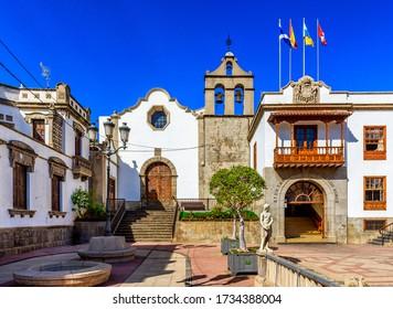 Historic downtown in Icod de los Vinos on Tenerife, Canary Islands, Spain - Shutterstock ID 1734388004
