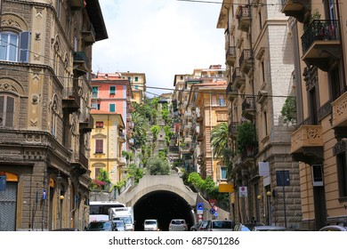 Historic downtown of La Spezia in Liguria, Italy