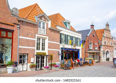 Historic downtown in Ootmarsum, Province Overijssel, Netherlands, 08-16-2019