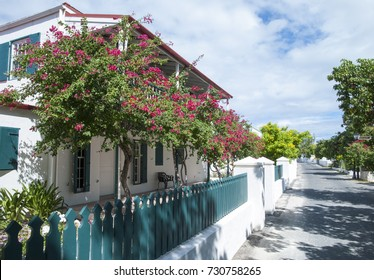 The historic Duke Street in Cockburn Town on Grand Turk island (Turks and Caicos Islands).