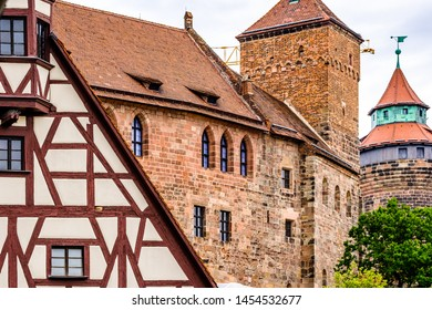 historic facade in the old town of nuremberg - germany