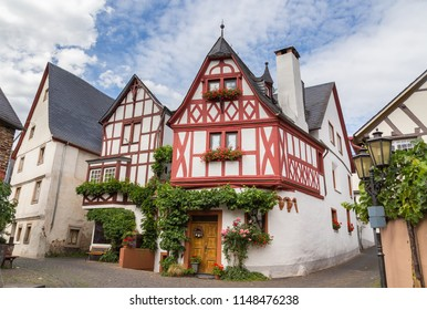 Historic Facades Ediger-Eller at the Mosel Germany Europe.