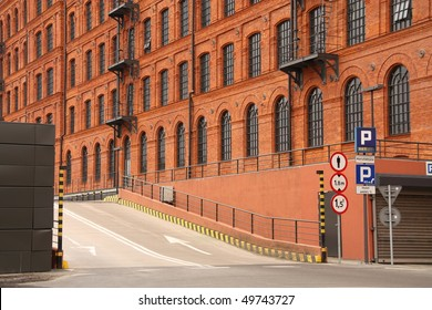 Historic factory building style in Lodz, Poland.