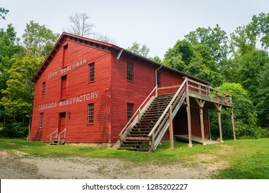Historic farm buildings at Ohio's only National Park, Cuyahoga Valley.