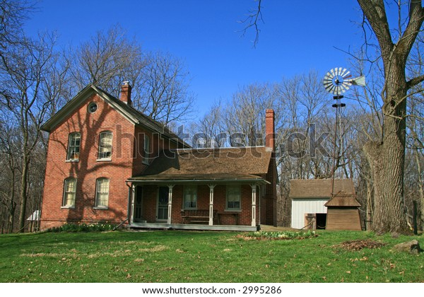 Historic Farm House in the Midwest along Lake Michigan
