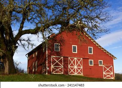 Historic Fiechter Barn at William L. Finley Wildlife Refuge, Oregon
