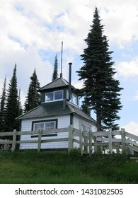 the Historic Firetower of 1927 in the Mount Revelstoke National Park, British Columbia, Canada, August