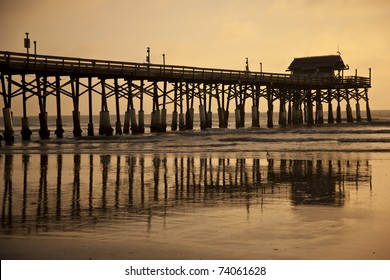 Historic fishing pier at Cocoa Beach, Florida