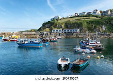 The historic fishing village of Mevagissey on the south coast of Cornwall