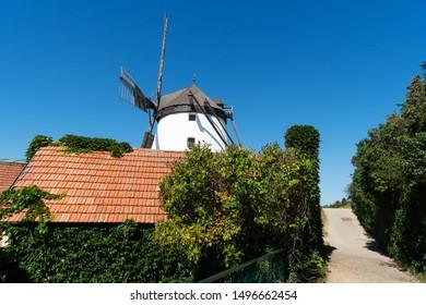 Historic Flour Mill, landmark at Retz in Weinviertel of Austria