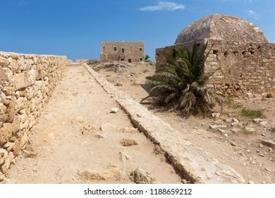 Historic fortesss in Rethymno on Crete, Greece