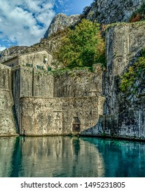 Historic fortification system that protected the medieval town of Kotor, Monte Negro.