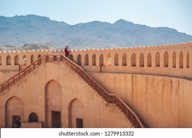 The historic fortress in the city of Nizwa, Oman.
