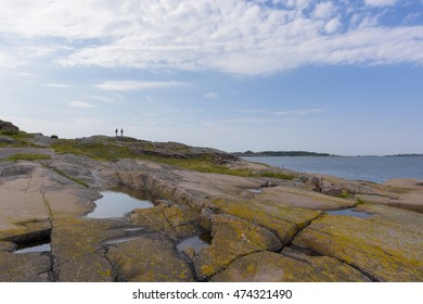 Historic fortress and lighthouse island in Baltic sea
