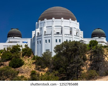 Historic Griffith Observatory from Griffith Park in Los Angeles California USA.