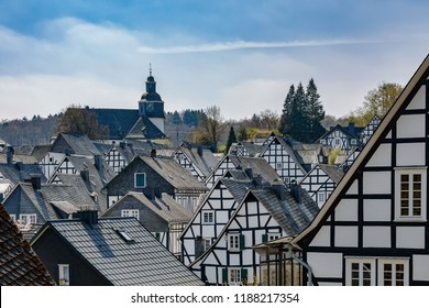 Historic half-timbered houses in Freudenberg / Siegerland North Rhine-Westphalia