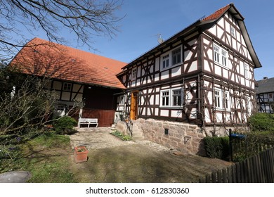 Historic half-timbered houses in Germany