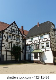 Historic half-timbered houses in Unna, North Rhine Westphalia, Germany