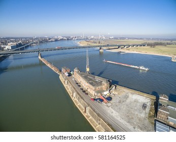 The historic harbour of Krefeld in Germany