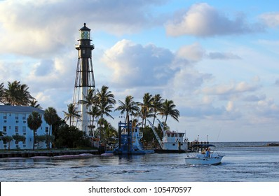 The Historic Hillsboro Lighthouse in South Florida