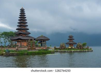 Historic Hinud temple Pura Ulun Danu Bratan in Bali, Indonesia