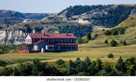Historic home built by the Marquis de Mores in 1883 as a hunting lodge and summer home for his family and guests. In Medora, North Dakota.