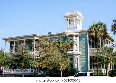 Historic homes in Galveston, Texas