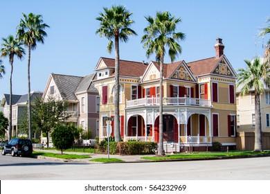 Historic homes in Galveston, TX