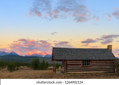 Historic Homestead Cabin In Glacier National Park