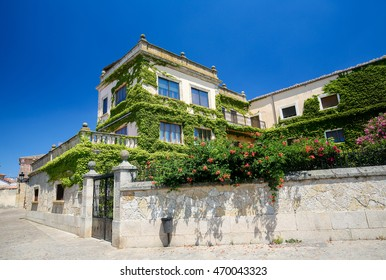 Historic house in Ciudad Rodrigo, a border town in Castile and Leon, Spain.