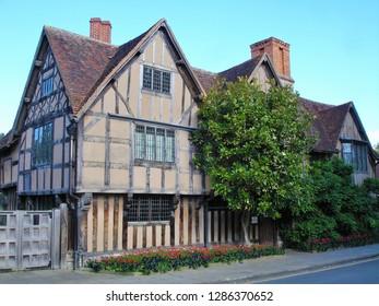 A historic house in Stratford-upon-Avon in Warwickshire, West Midlands, United Kingdom