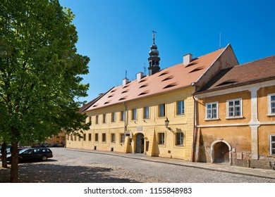 Historic house in Zatec town.Czech Republic.