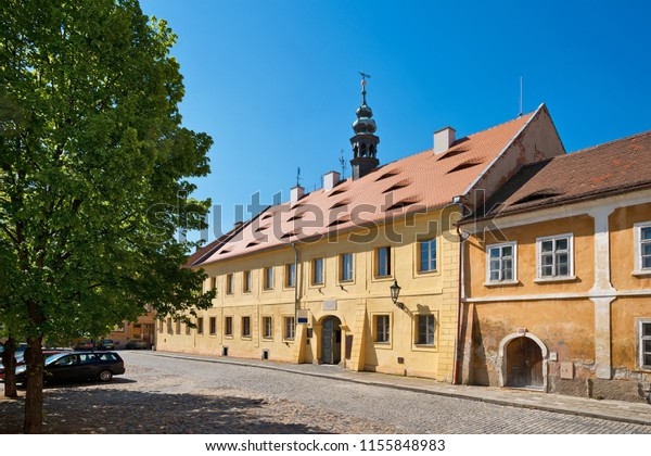 Historic house in Zatec town.Czech Republic.