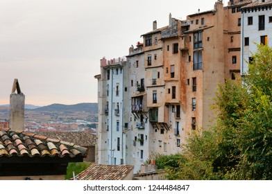 Historic houses of Cuenca Old Town in Spain