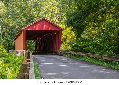 The historic Jericho Covered Bridge near Jerusalem in Harford County Maryland.