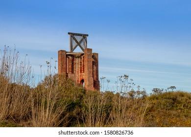 historic kap lighthouse landmark in borkum, travel Wattenmeer Germany