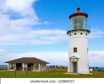 The historic Kilauea lighthouse on Kauai's north shore.