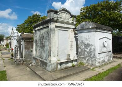 Historic Lafayette Cemetery in Garden District, New Orleans, Louisiana, USA.